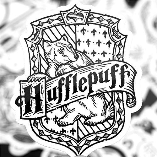 JZLMF Harry Potter Pegatina Equipaje Trolley Caso monopatín Guitarra Personalidad Pegatina Impermeable 62 Piezas