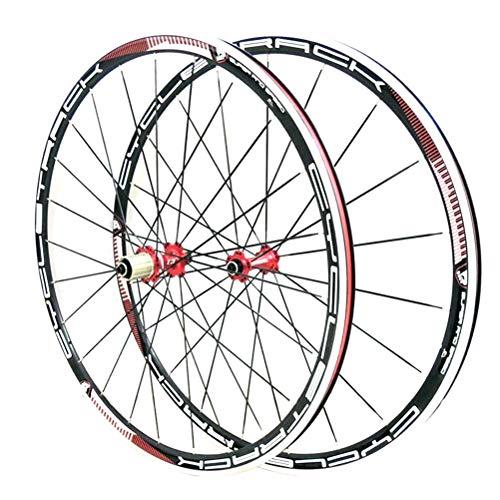 CHICTI Rennrad Laufradsatz 700c CX Doppelwandige Legierung Felge 31mm Kreuzer Fahrrad Vorder- Und Hinterrad V-Bremse QR for 8/9/10/11 Geschwindigkeitskassette