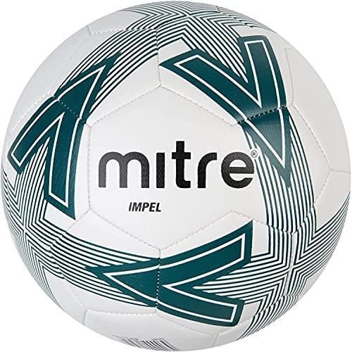 Pallone da calcio Mitre Impel, Bianco/Pitch Green/Nero