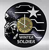 Bucky Barnes vinyl wall clock great gift for men, women, kids, girls and boys, birthday, christmas beautiful home decor - unique design that made out of vinyl record -  Best Gifts Guru