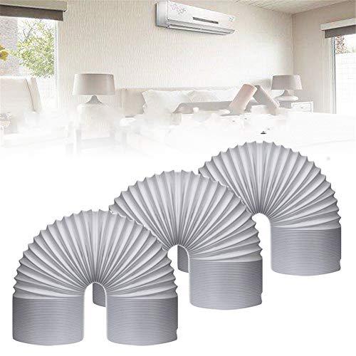 Wchaoen 5,5 Zoll Durchmesser 59 Zoll Länge - Air Conditione-Auslassschlauch für Dunstabzugshaube-Klimaanlage Werkzeugzubehör