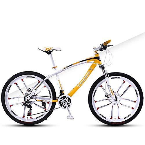 Bicicleta para niños, bicicleta de montaña, velocidad de freno de disco doble Bicicleta para niños y niñas, 24 pulgadas Ciclismo para jóvenes Adultos Hombres y mujeres Velocidad variable Absorción de