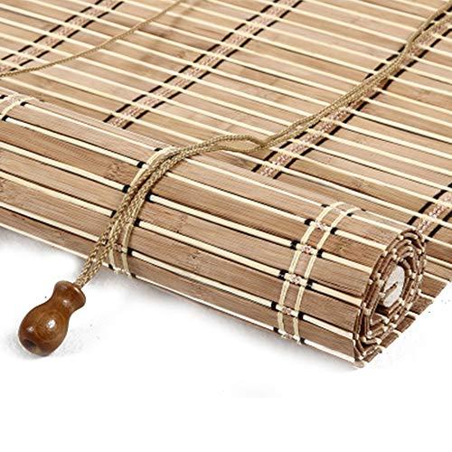 HJRD Persianas Enrollables De Bambú, Persianas De Caña, Persiana Toldo Vertical Cortinas Opacas, Anticorrosión Prueba De Polvo, Adecuado para Interiores/Exteriores(120x140cm/47x55in)
