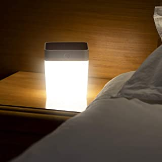 LUTEC Table Cube Light 100 Lumen 1 Watt 3 LED Simple operación de botón de toque 3 pasos de atenuación Lámpara solar de mesa portátil y móvil para exteriores