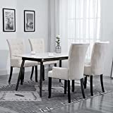 Festnjght 4 STK. Modern Dining Room Chairs, Living Room Chair, Esszimmerstühle, Wohnzimmerstuhl Küchen Esszimmer Stühle Bürostuhl Esszimmerstühle Beige Stoff