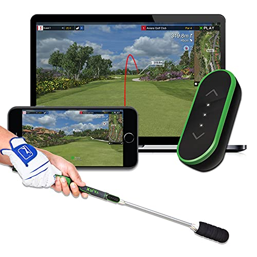 tittle X Home Golf Simulator 2021 E6 Connect Edition - Indoor Real Golf Game Experience with Smart Micro Sensor Swing Analyzer (Compatible with iOS and PC) (Stick Package)