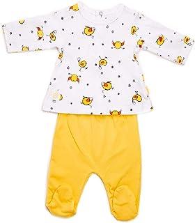 BABY-BOL 8839-11006-AMARILLO-1M - Conjunto bebé Pollitos bebé-niños Color: Amarillo Talla: 1M