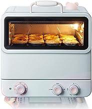 Mini horno de vapor de 20L Temperatura ajustable 100-250 ℃ y 60 minutos Temporizador Horno de vapor doméstico multifuncional Máquina integrada Puerta de vidrio templado de doble capa Iluminación inco