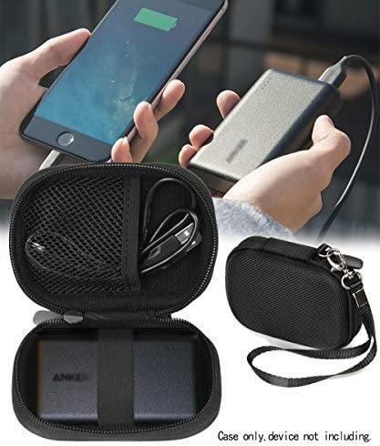high quality Travel online sale Easy Protective Case Anker PowerCore 10000 Portable Charger Exter Batteries by WGear, mesh Pocket for Cable, Fastening Elastic Strap, online sale Wrist Strap, Detachable Wrist Strap (Ballistic Black) outlet sale