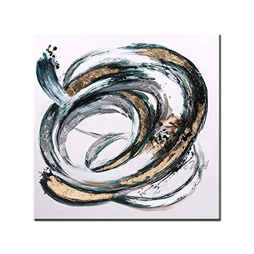 ZNYB Cuadros para Salon Modernos Pintura al óleo Abstracta en Lienzo en Blanco y Negro, Arte de Pared, Pinturas acrílicas de Gran tamaño, Ilustraciones para Sala de Estar