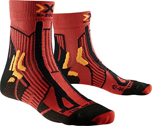 X-Sock Trail Run Energy, Calcetines, Hombre, Rojo (Paprika/