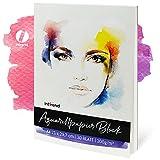 int!rend Carta per acquerello, 30 fogli bianchi in DIN A4, 300g | Album da disegno per acq...