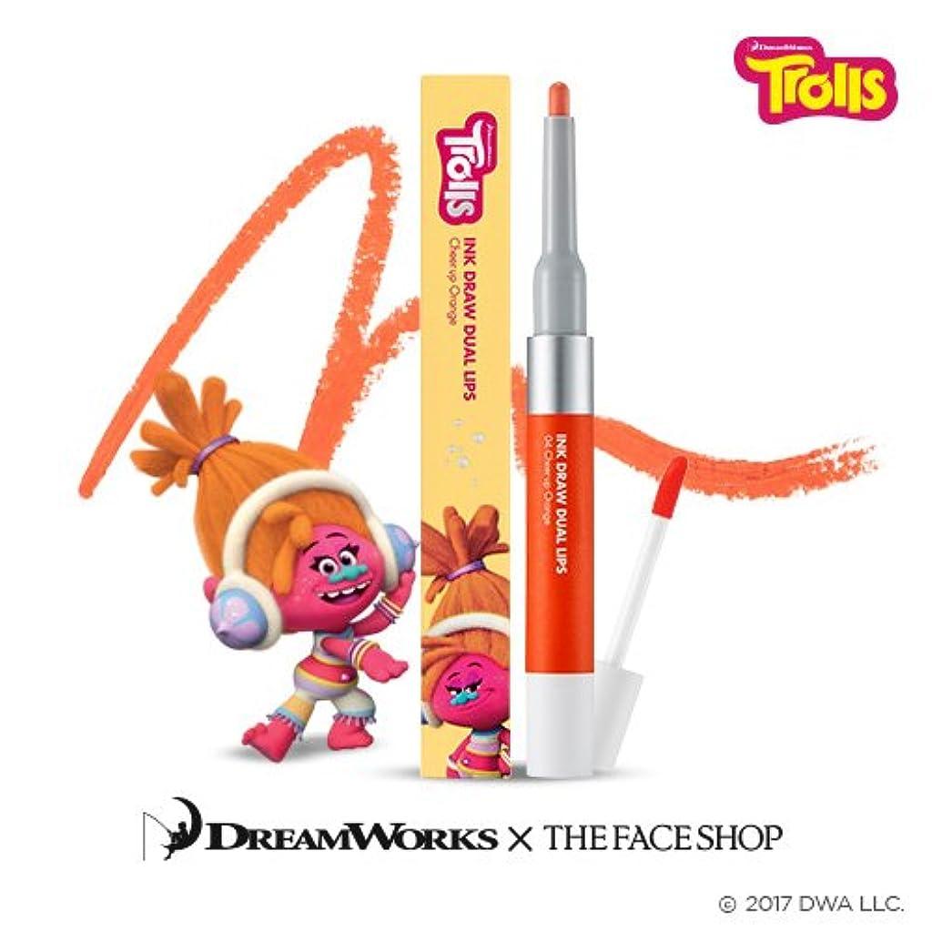 報いるアイザック海上The Face Shop Ink Draw Dual Lip_Trolls Edition 04. Orange/ザ?フェイスショップ インクドローデュアルリップ_トロールエディション (04. Orange) [並行輸入品]