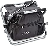 Personalized Folding Storage Chair, Collapsible Camping Cooler Chair with Food and Drink Storage...