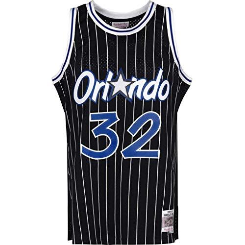QQA # 32 O'Neal Orlando Magic All-Star Klassisch Basketball Trikot Unisex Ärmellos Mesh Sportswear Manuell gestickt Sportweste Top,Schwarz,M