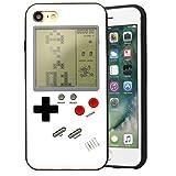 Bestmaple ゲームボーイ 風 iPhone ケース 実際に遊べるレトロゲームを多数内蔵 テトリス バトルシティー シューティング フロッガー インベーダー ビデオゲーム 液晶 ドットゲーム レトロ スマホケース スマートフォン (iPhone 7/8, ホワイト)