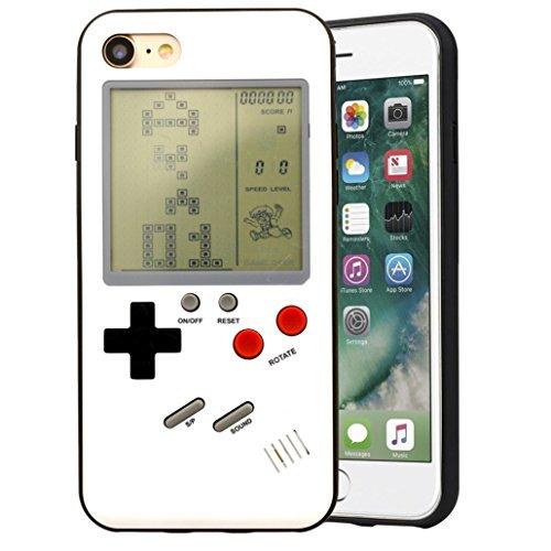 Bestmaple ゲームボーイ 風 iPhone ケース 実際に遊べるレトロゲームを多数内蔵 テトリス バトルシティー ...
