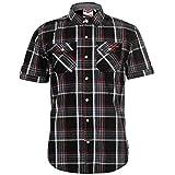 Lee Cooper Herren-Hemd, kariert, Schwarz/Weiß/Rot Gr. XL, schwarz / weiß / rot