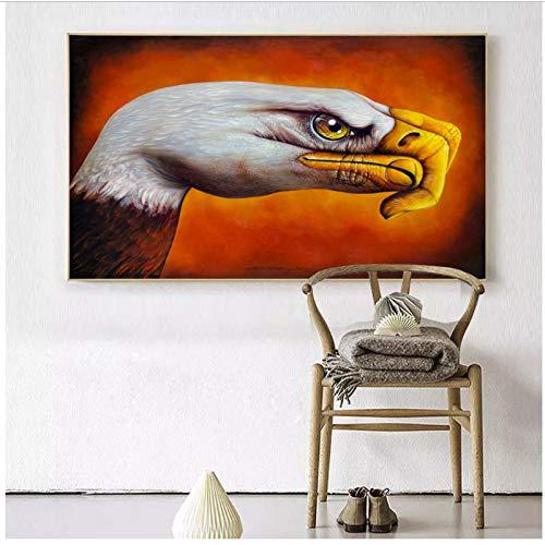 Kleurrijk op canvas op doek poster foto maken gans met gebaren 50x75cm geen frame