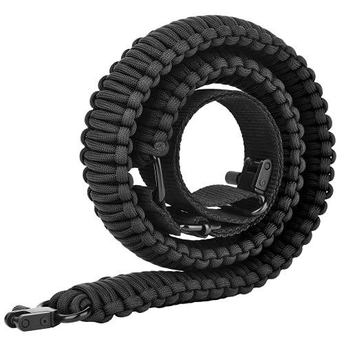 CVLIFE Paracord 550 Two Points Sling Adjustable Rope Quick Swivel