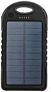 Universal Solar Charging Powerbank with 5000mAh for Apple Iphone X in Black