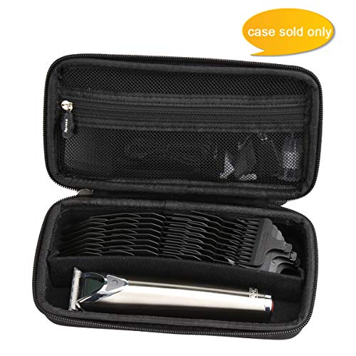 Aproca Hard Travel Storage Case Fit Wahl Clipper Stainless Steel Lithium Ion Plus Beard Trimmer Hair Clippers Shavers 9818 / Braun MGK3060 Men's Beard Trimmer (Black)