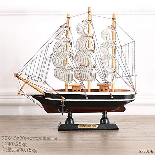 Hummla Creative Sailing Crafts Modelo Decoración del hogar Accesorios Televisión Vinoteca Dormitorio A Sala de Estar Decoración de Escritorio Regalos, 20CM-F