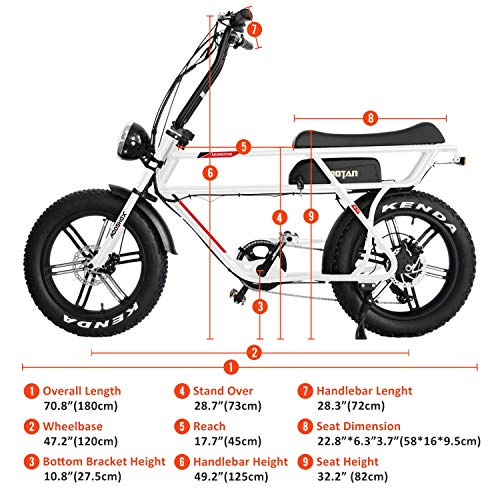 Addmotor MOTAN Electric Bike 750W 48V 16Ah Lithium Battery Pedal Assist 20 Inch Fat Tire 85% Assembled Comfort M-70 R7 Ebikes for Adults Men