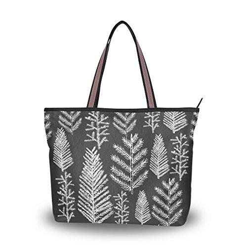 alaza Tote-Schulter-Beutel-Weihnachtsbaum-Tanne Kiefer Handtasche Große