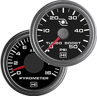 TruckMeter Hewitt 010TM5008 Combo Pyrometer & Boost Gauge - 2 Gauge Kit