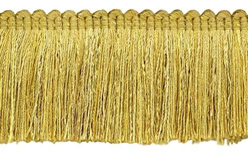16.5 Meter Value Pack of Veranda Collection 51mm Brush Fringe Trim|Coin Gold, Gold, Antique Gold|Style#: 0200VB|Color: Gold - VNT4 (54 Ft / 18 Yards)