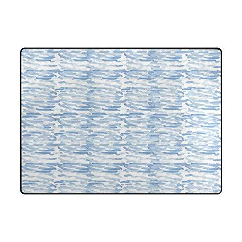 MALPLENA particulière Motif Zone Tapis antidérapant Pad Moyen d'entrée Paillasson Tapis de Sol Chaussures Grattoir, Polyester, 1, 63 x 48 inch