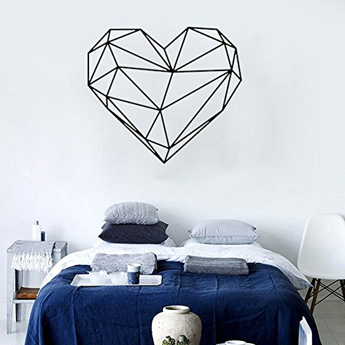 jieGorge Sticker, Valentines Day Love Geometry Window Wall Sticker Mural Decor Decal Removable, Home Decor Sales (S)