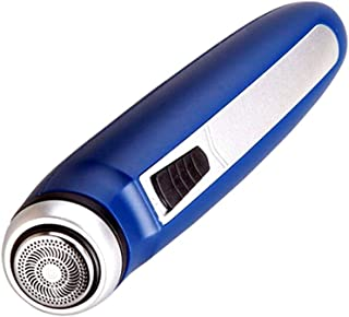 THOR-YAN - 脱毛器 ミニかみそりミニシングルヘッド小さな乾電池電動ポータブル脱毛旅行ボディウォッシュ男性と女性のポケットシェービングノーズマシンブルーかみそり