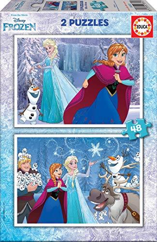 Educa Frozen Puzzles, 2x48 Piezas, multicolor (16852)