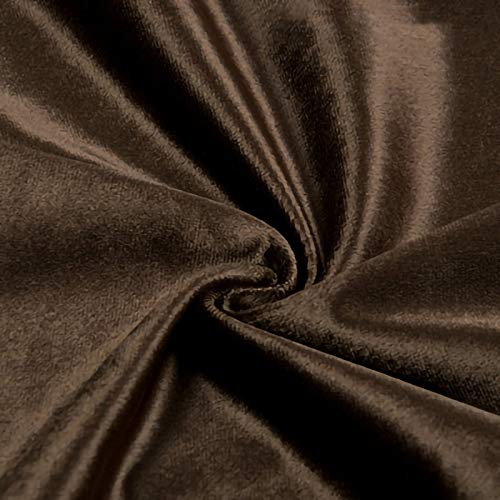 ZXC Tela De Terciopelo 150 cm De Ancho Tela Terciopelo EláStico 1m por Metro Suave para Coser De Chaquetas DecoracióN del Hogar Cortinas TapiceríA(Color:marrón)