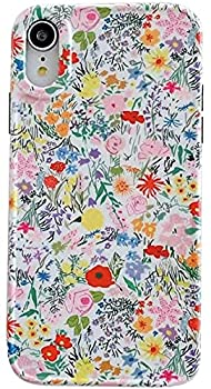 SDUXAPN Flroal Case for iPhone XR Flower Ivory White Artistic Aesthetic Print Design Women Girls Light Cute Trendy Sleek Matte Flexible Stylish Silicone Protective Phone Case Fits for iPhone XR 6.1
