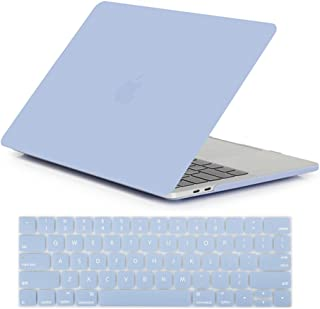 Se7enline 2016/2017/2018/2019 MacBook Pro 13 Case Soft-Touch Frosted Plastic Hard Cover for MacBook Pro 13'' A1706/A1708/1989/A2159 with/Without Touch Bar Touch ID with Keyboard Skin, Serenity Blue