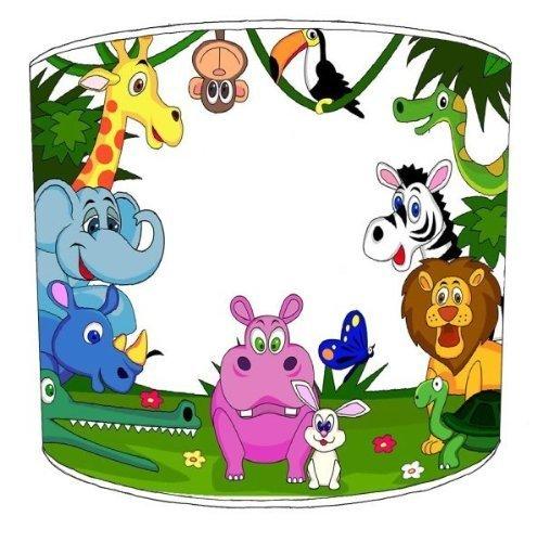 30cm Personalised Jungle Animals kinderen Shades Voor een plafondlamp