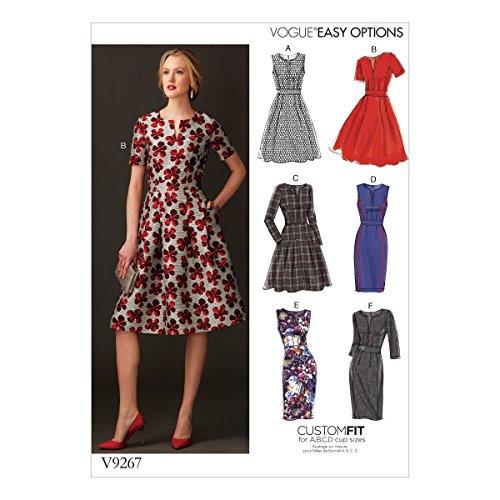 Vogue Patterns Schnittmuster Kleid, Mehrfarbig, Größe 14–22