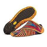 YUIL-S Zapatos Envueltos Vibram Furoshiki, Hombres Y Mujeres Parejas Zapatilla De Viaje Almacenamiento Portátil Transpirable Zapatos Casuales,Orange,XL