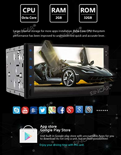 Car Stereo Android Head Unit 2 Din Car Radio Bluetooth GPS Navigation 7 inch Touch Screen Radio with in Dash Auto Audio Headunit 8 Core Car Tablet Receiver Support 2GB 32GB WiFi Video Out