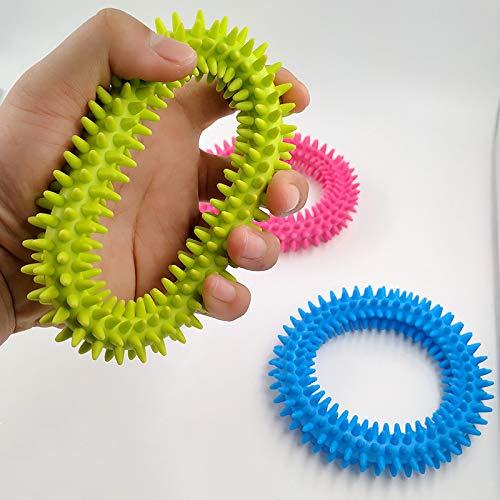 Dorime Spiky Sinnes Tactile Ring Kids Anti-Stress-Armband Fidget-Spielzeug für Klassenzimmer/Büro Autismus erhöhen Stress-Fokus Entlasten 2ST