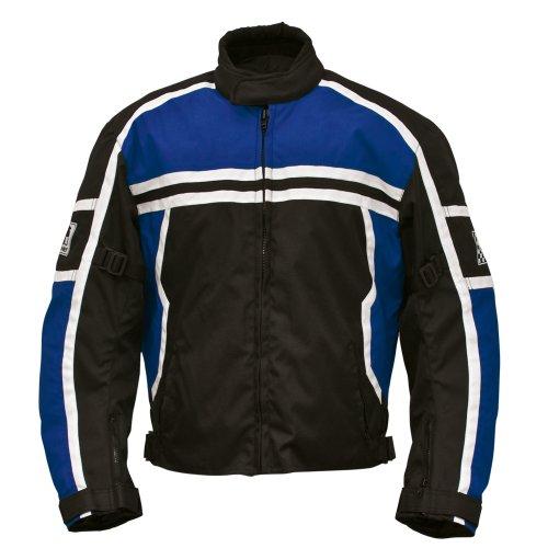 Römer Washington Motorradjacke Blouson, Schwarz/Blau/Weiß, Größe XL