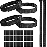 SATINIOR 6 Pieces Knee Boots Straps Adjustable Elastic Boots Straps with 42 Pieces Hook and Loop Tape for Knee-high Boots, Keep Boots Not Fall Off