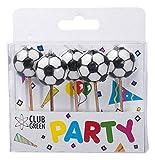 Club Green '2D Fußbälle Kerzenhalter, weiß, 5Kerzen