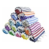 HAVLULAND - Sale Set of 6 -Turkish Beach Towel 100% Cotton Prewashed for Feel Super Soft - Absorbent and Quick Dry Bath Towels - Lightweight - Sand Free Oversized Blanket -71' X 39'