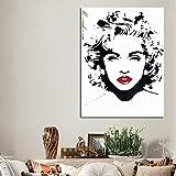 ZWBBO Dekorative Malerei Sterne Madonna Roten Lippen Spray