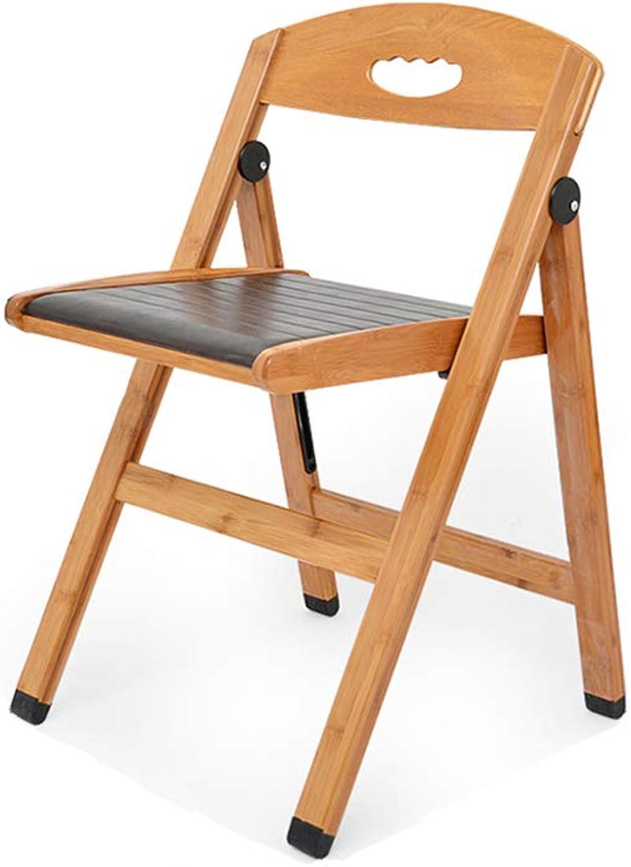 Xiao Mi Guo Ji- Folding Chair - Chair Bamboo PU Folding Chair Backrest Bamboo Legs 75  47  48cm Home Chair