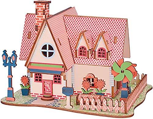 Abcoll Dreidimensionales Puzzle-Kinder DIY Pädagogisches Spielzeug Haus 3D Puzzle Kinder Geschenk Spiel, Zusammenbau Holz Gebäude Fähre Modell Holzspielzeug Boot-03